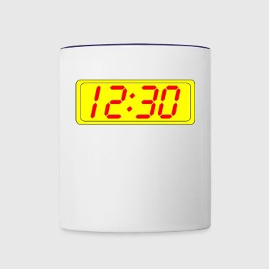 clock - Contrast Coffee Mug