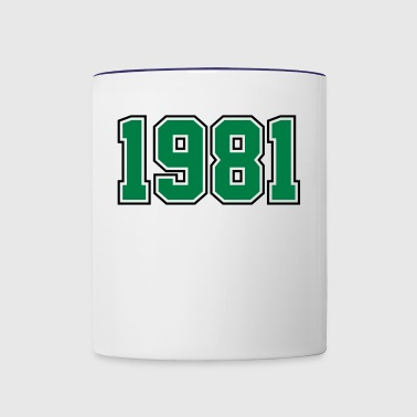 1981 | Year of Birth | Birth Year | Birthday - Contrast Coffee Mug