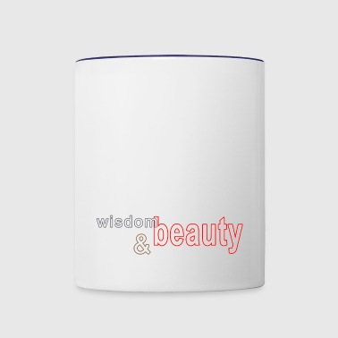 wisdom and beauty - Contrast Coffee Mug