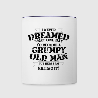 Grumpy Old Man - Contrast Coffee Mug