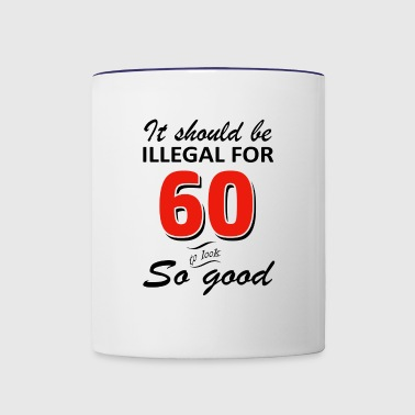 Funny 60th year old birthday designs - Contrast Coffee Mug