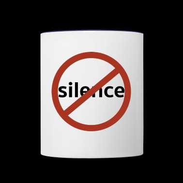 No Silence - Contrast Coffee Mug