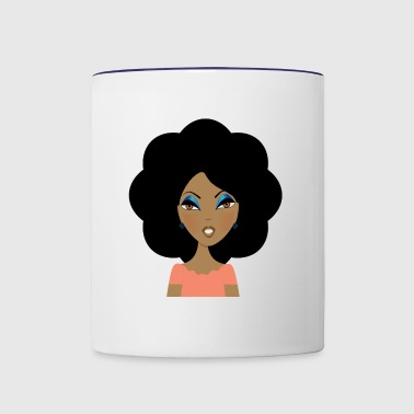 Afro In Bloom - Contrast Coffee Mug