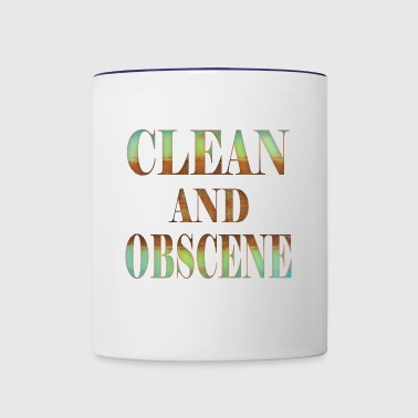 Clean and Obscene words4 - Contrast Coffee Mug