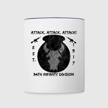 34th Infantry Division Subdued - Contrast Coffee Mug