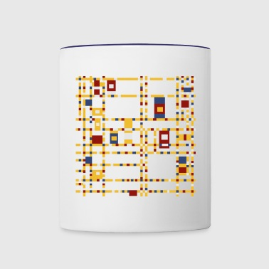 Broadway Boogie-Woogie by Piet Mondrian - Contrast Coffee Mug