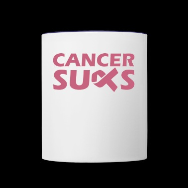 Cancer Sucks Breast Cancer Awareness - Contrast Coffee Mug