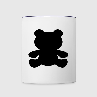 Black Bear Shadow - Contrast Coffee Mug
