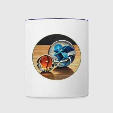 Orange and Blue Glass Marbles - Contrast Coffee Mug