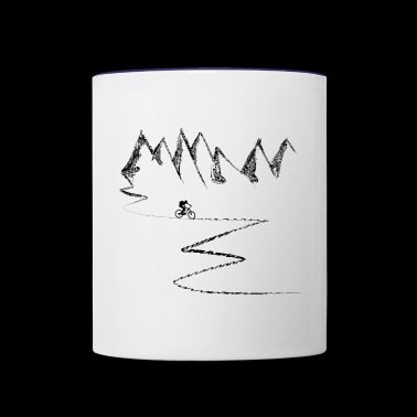 mountain bike mountain biking cycling mountains - Contrast Coffee Mug
