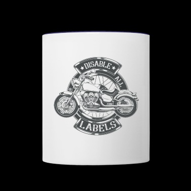 Disable All Labels - Motorcycle - Contrast Coffee Mug