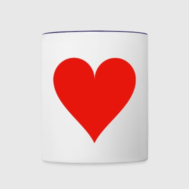 Heart Card - Contrast Coffee Mug