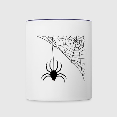 Spider and spider's web - Contrast Coffee Mug