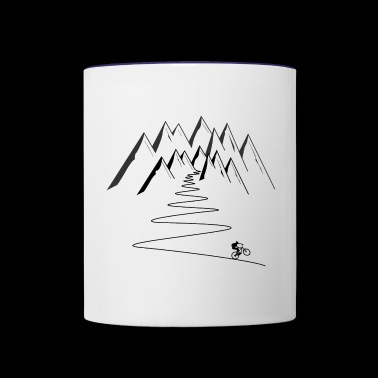 mountain bike mountains cycling - Contrast Coffee Mug