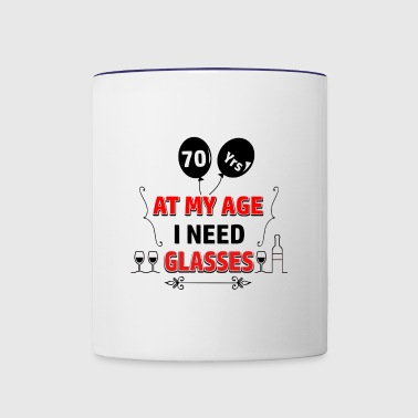 70 years and increasing in value - Contrast Coffee Mug
