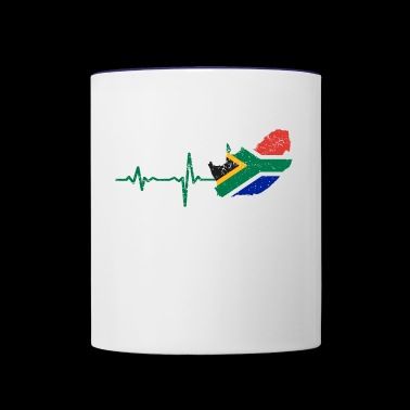 Heartbeat South Africa gift - Contrast Coffee Mug