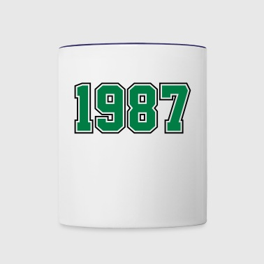 1987 | Year of Birth | Birth Year | Birthday - Contrast Coffee Mug