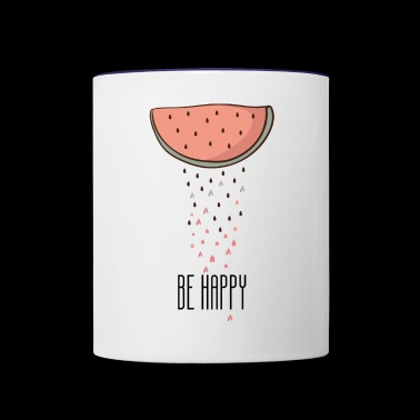 be happy - Contrast Coffee Mug
