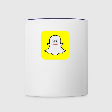 Snapchat Ghost - Contrast Coffee Mug