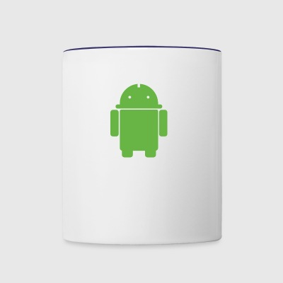 android penis logo - Contrast Coffee Mug