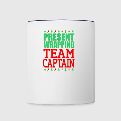 Present Wrapping Team Captain Christmas - Contrast Coffee Mug