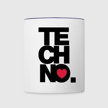 TECHNO MUSIC - Contrast Coffee Mug