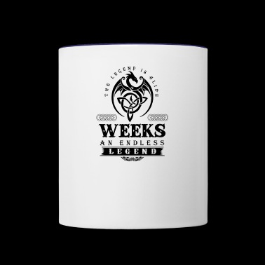 WEEKS - Contrast Coffee Mug