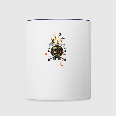partner on trick - Contrast Coffee Mug