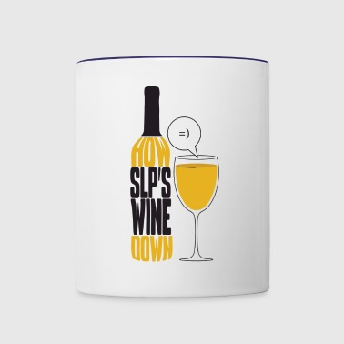 How SLP's wine down - Contrast Coffee Mug