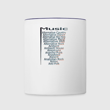 Music from A Z part3 - Contrast Coffee Mug
