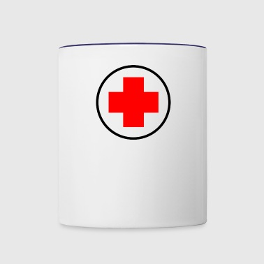 red cross - Contrast Coffee Mug