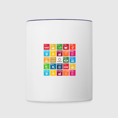 global goals - Contrast Coffee Mug