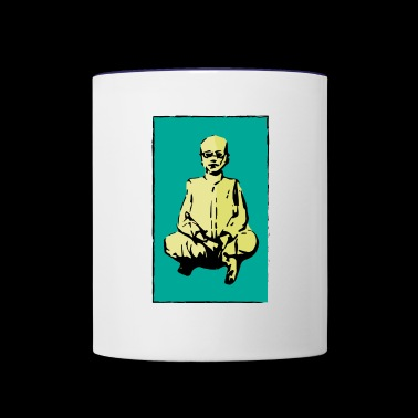 man sitting - Contrast Coffee Mug