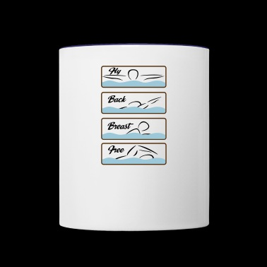 swim - Contrast Coffee Mug
