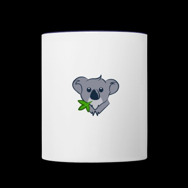 Coala with eucalyptus - Contrast Coffee Mug