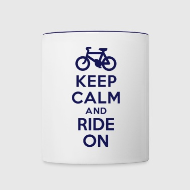 Keep calm and ride on bike - Contrast Coffee Mug
