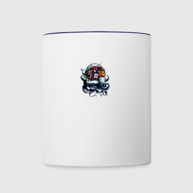 Space Bloom, Space Flower Bloom - Contrast Coffee Mug