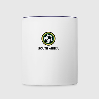 South Africa Football Emblem - Contrast Coffee Mug