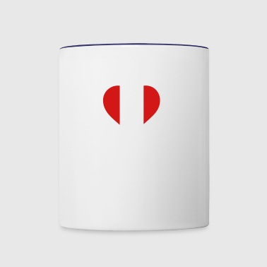A Heart For Peru - Contrast Coffee Mug