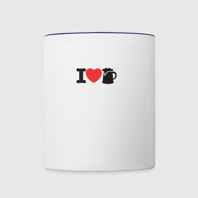 LOVE BEER - Contrast Coffee Mug