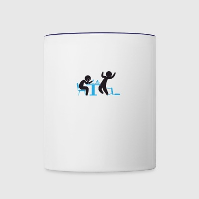 A Poker Player Wins A Game - Contrast Coffee Mug