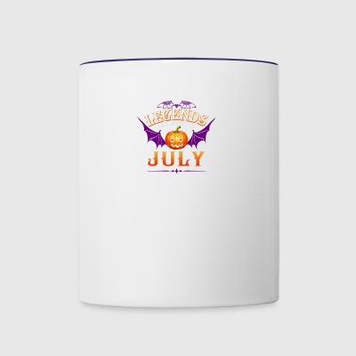 Legends Are Born In July - Contrast Coffee Mug