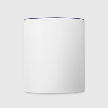 white emblem - Contrast Coffee Mug