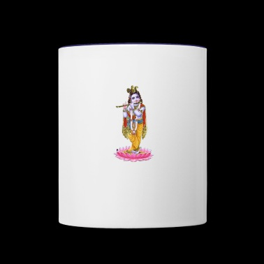 Lord krishna - Contrast Coffee Mug