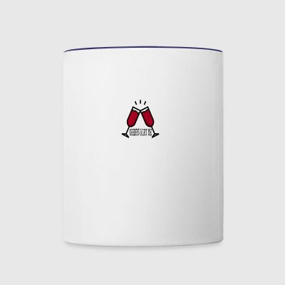 CHEERS WITH ME - Contrast Coffee Mug