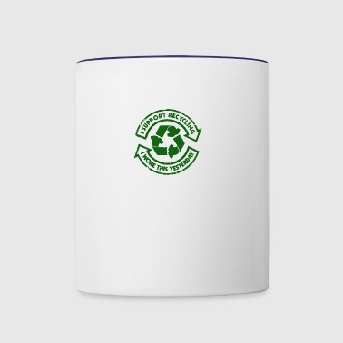 I Support Recycling - Contrast Coffee Mug