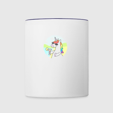 Unicorn Chill Gift Shirt High Quality - Contrast Coffee Mug