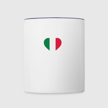 A Heart For Italy - Contrast Coffee Mug