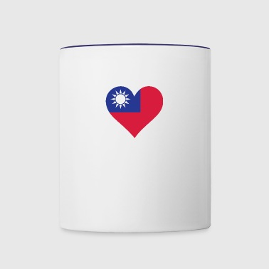 A Heart For Taiwan - Contrast Coffee Mug