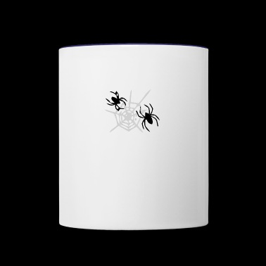 spider and web - Contrast Coffee Mug